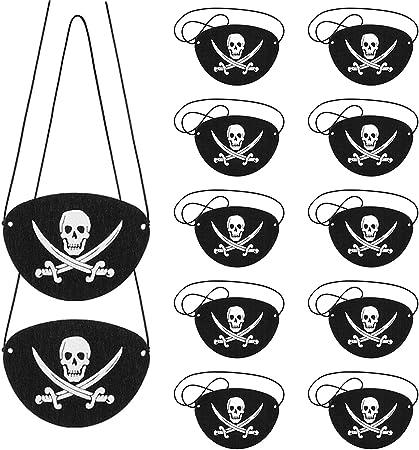 Benda pirata  per occhio nera con teschio