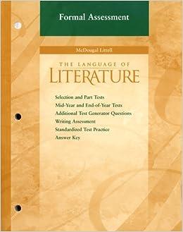 Book McDougal Littell Language of Literature: Formal Assessment Grade 6