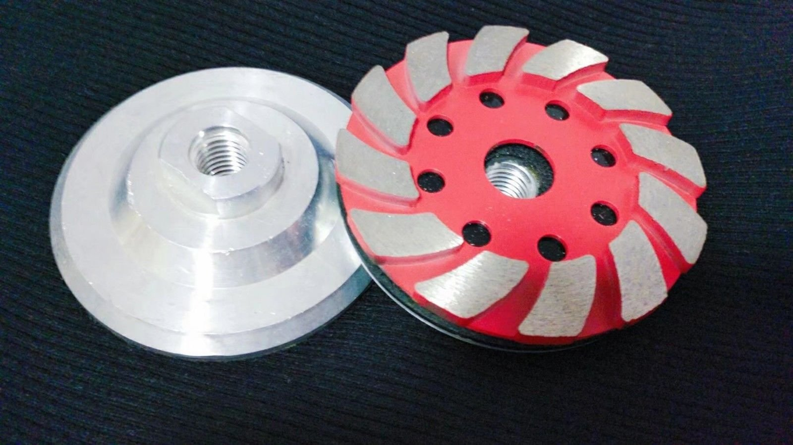 4-Inch Diamond Aluminum Based Turbo Grinding cup wheel concrete stone terrazzo floor slabs masonry surface stain remove smoothing coating lippage mortar removal