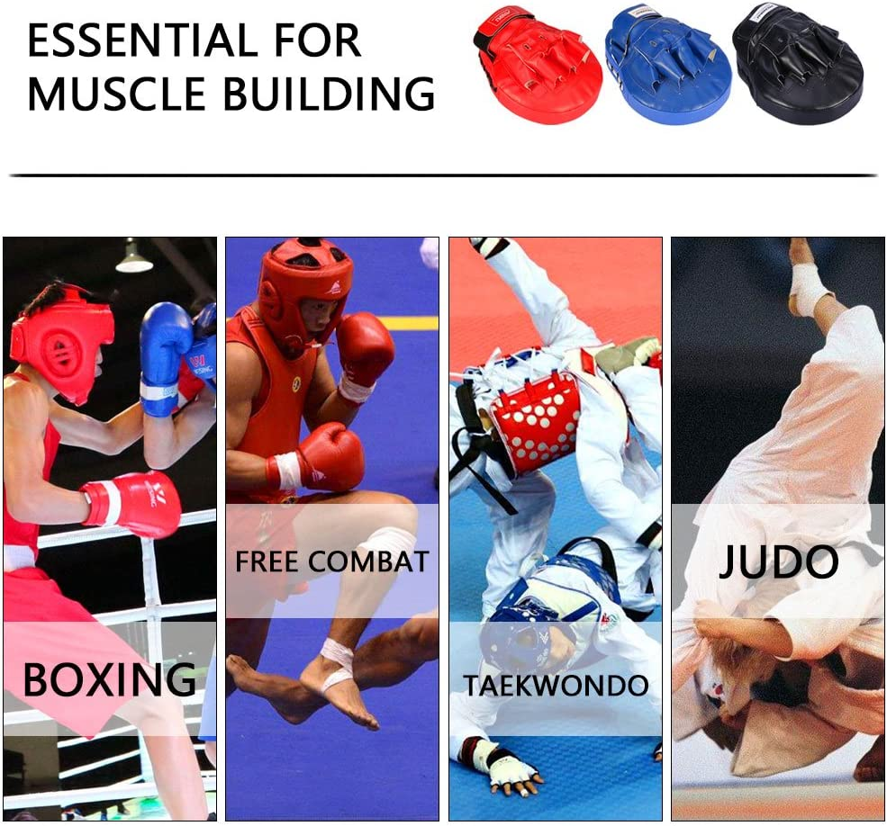 Martial Arts-Kids Sparring black Muay Thai Kick or Karate Dojo Boxing Gloves Hand Pads Men /& Women Punching Mitts Kickboxing Muay Thai MMA Boxing Mitts Training Focus Punch Mitts