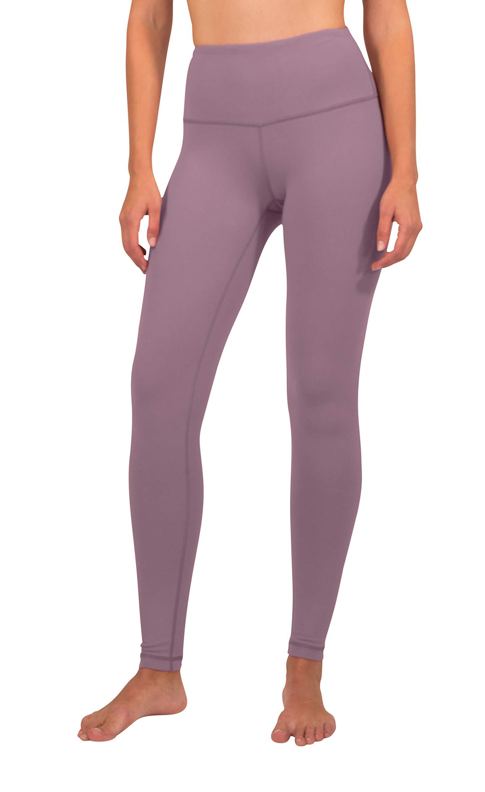90 Degree By Reflex - High Waist Power Flex Legging – Tummy Control - Chocolate Plum - Small