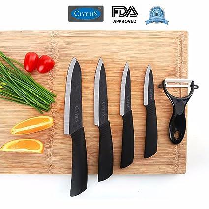 buy clytius ceramic kitchen knife set premium quality black blade