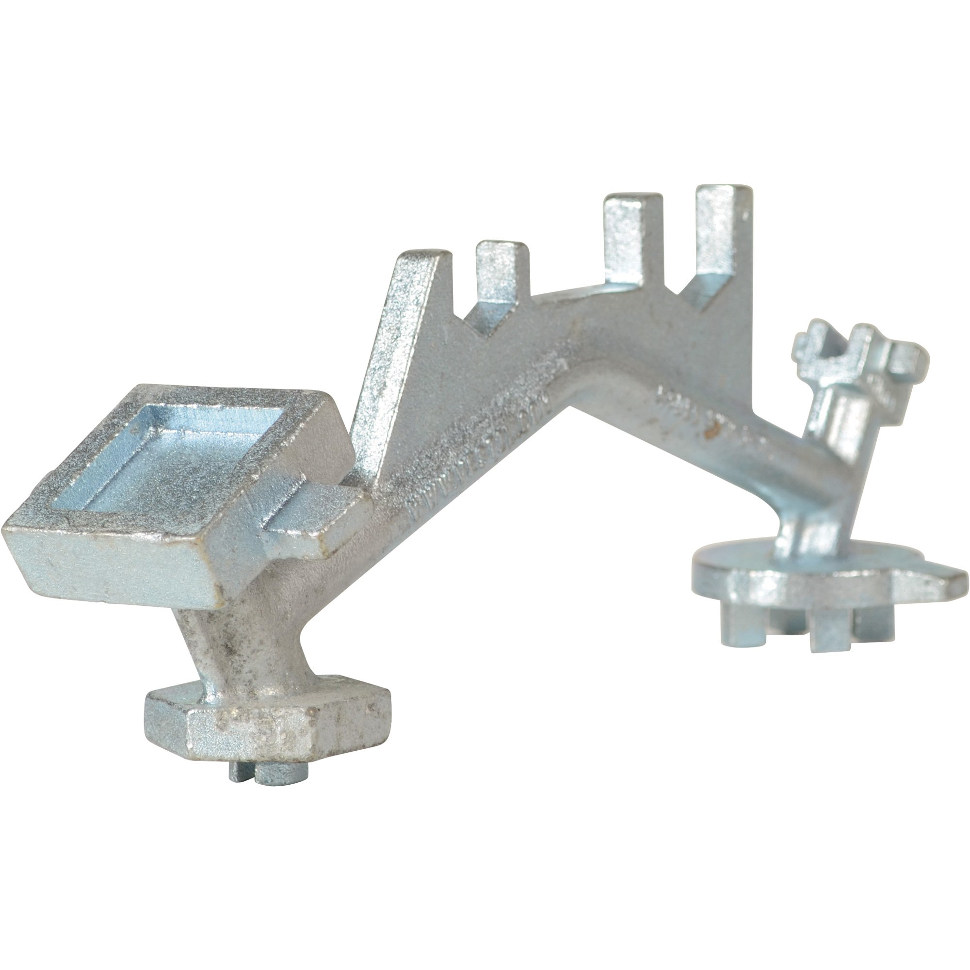 Vestil Drum Bung Nut Wrench - Zinc Cast Steel, 12in.L, Single Ended, Model# BNW-I-W