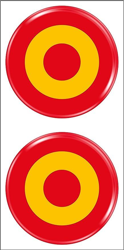 Artimagen Pegatina Diana España 2uds. Resina ø 33 mm/ud.: Amazon.es: Coche y moto