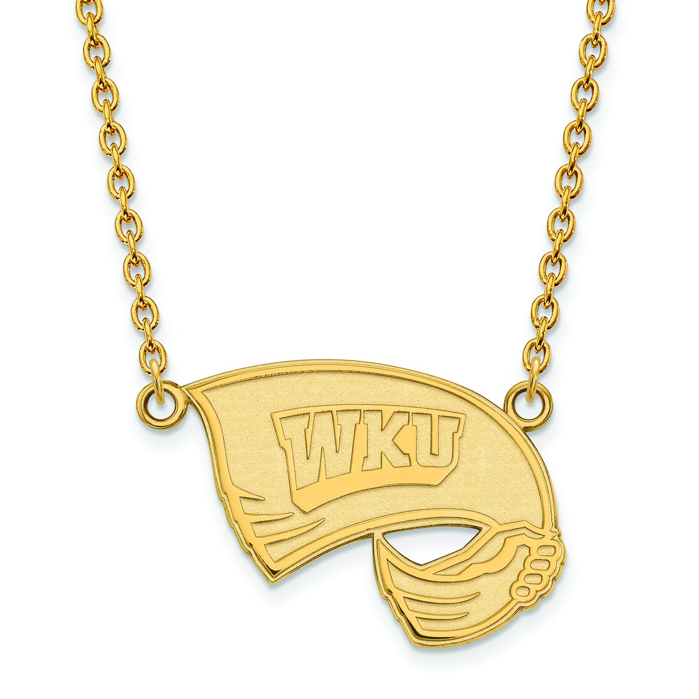 Western Kentucky Large (3 / 4インチ) ペンダントW/ネックレス(ゴールドメッキ)   B01JAP6QV2