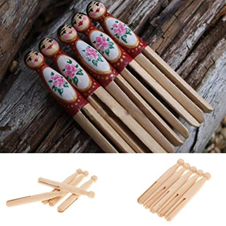 Unfinished Wood Doll Bodies Round Wooden Clothespinswood Dolly Pegs Traditional Wooden Dolly Pegs Clothes Wash Line Diy Crafts