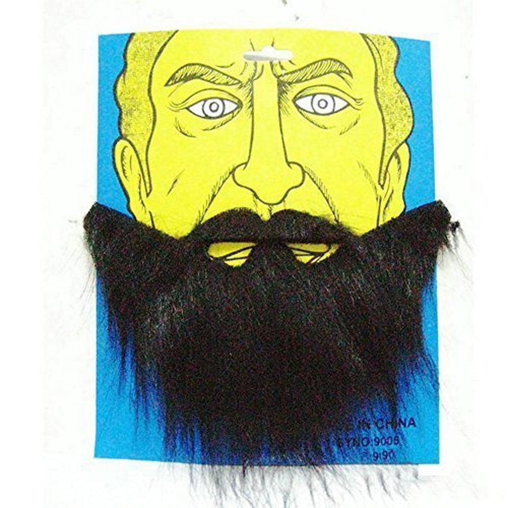 PARTY BEARD Moustache Costume Fancy Dress Halloween Fake Mustache Funny Beard