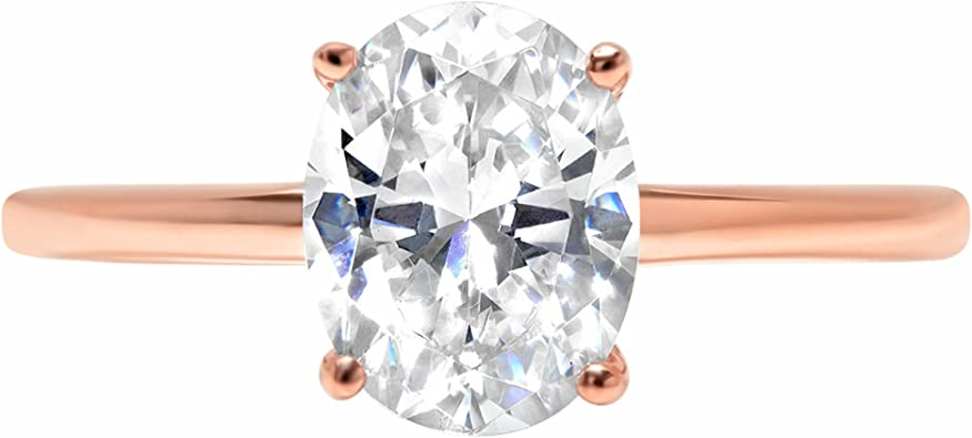 14k Rose Gold 1.47cttw Classic Heart Solitaire split shank Moissanite Engagement Promise Ring Statement Anniversary Bridal Wedding by Clara Pucci