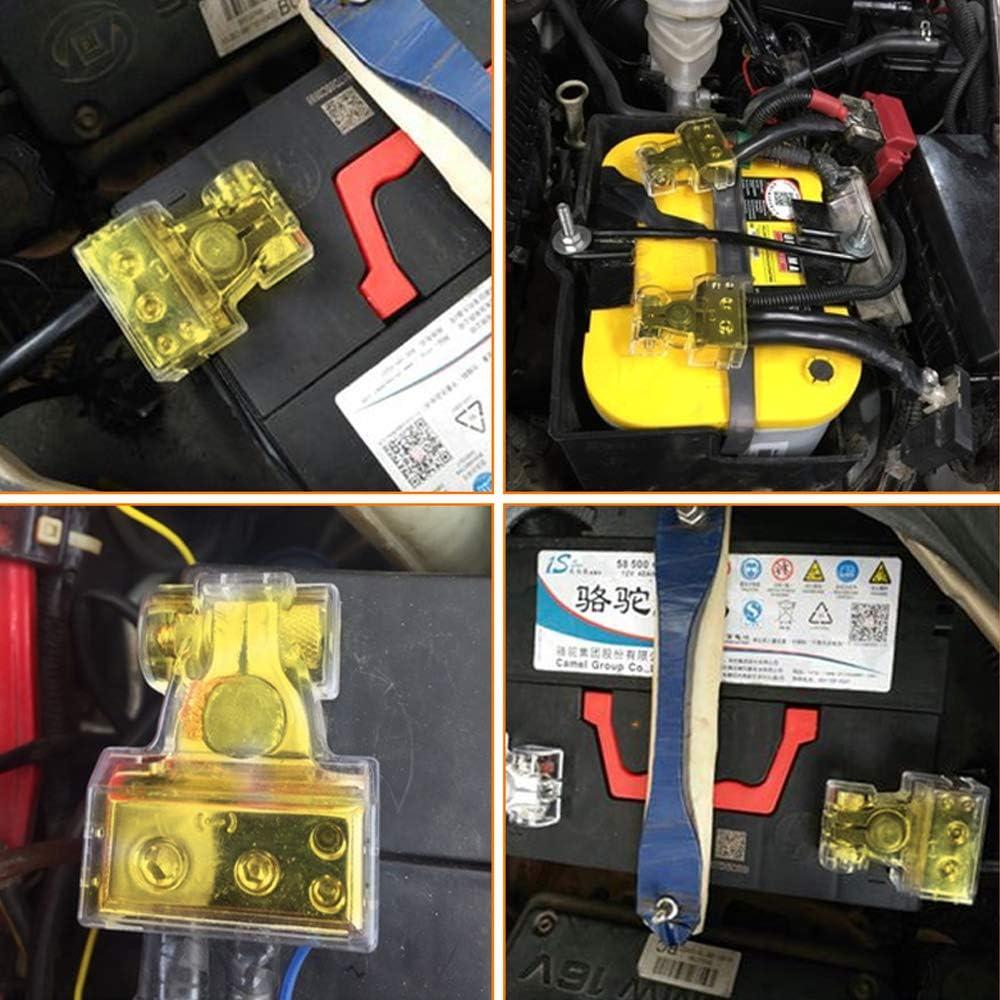 HO2NLE Terminali Morsetti di Batteria,Terminali Batteria Auto batteria Morsetto Positivo e Negativo Battery Terminal