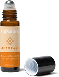 Head Ease Headache Relief Essential Oil Blend - Migraine Essential Oil Roll-on - Lavender, Rosemary & Peppermint Pre-Diluted Roller, Easy Application, Leak Proof Metal Rollerball – No Diffuser Needed!