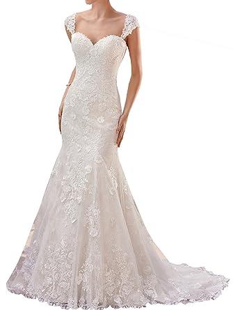 Changjie Women\'s Sweetheart Neckline Lace Wedding Dresses Mermaid ...