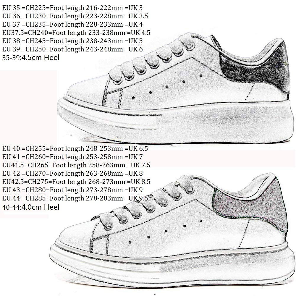 11e8f60bf2f78 YORWOR Womens Ladies Lace Up Platform Trainers Classics Retro Sports  Sneakers Low Rise Hiking Shoes Size 3-Size 9 Unisex Adults  Amazon.co.uk   Shoes   Bags