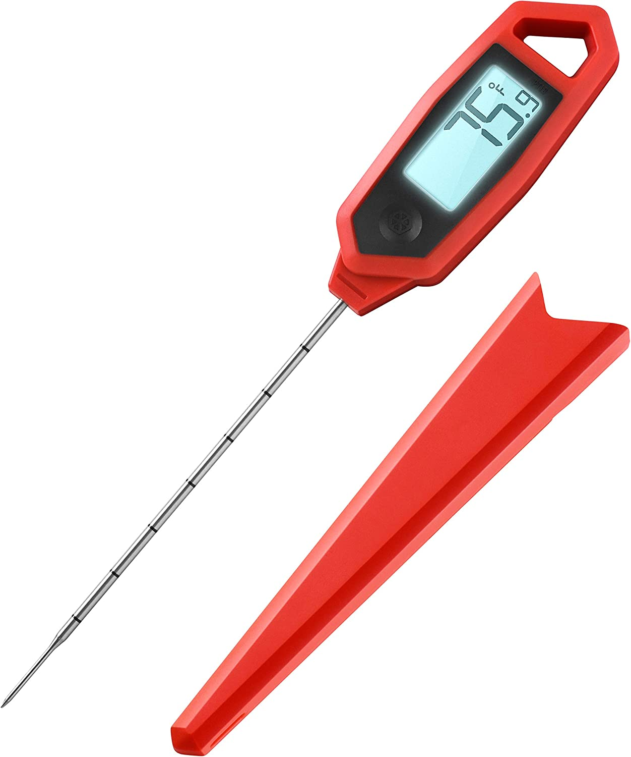 "Lavatools PT18 Professional Commercial 4.5"" Ambidextrous Backlit Digital Instant Read Meat Thermometer for Kitchen, Food Cooking, Grill, BBQ, Smoker, Candy, Home Brewing, and Oil Deep Frying"