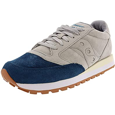 separation shoes 3623a 6f42e Saucony Men's Jazz Grey/Teal Ankle-High Leather - 10.5M: Buy ...