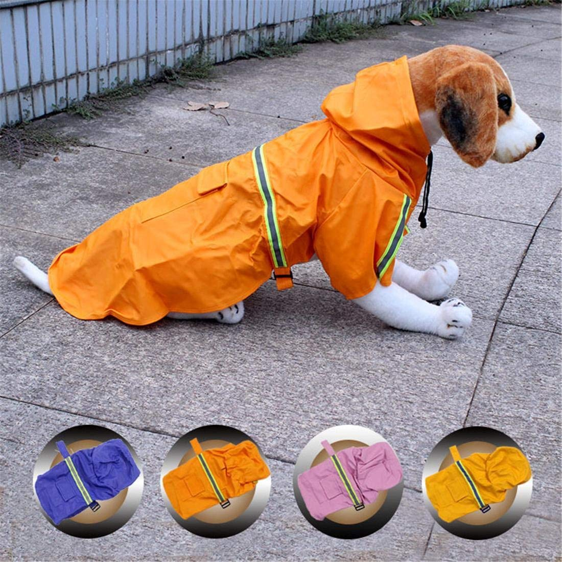 Pet Bed Pet Dog Raincoat Hooded Rain Cover Jacket For Small Medium Large Dog Puppy Summer Winter Rainy Snowy Day Slicker Rainwear Clothes 4 Colors, Blue, 5XL ( Color : Yellow , Size : 5XL )