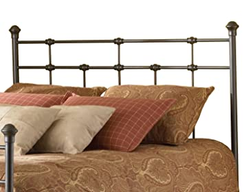 Amazon.com - Dexter Metal Headboard with Decorative Castings and ...