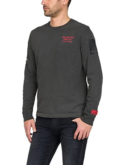 dc5aa44c501 Replay Men s Long Sleeve Top  Amazon.co.uk  Clothing