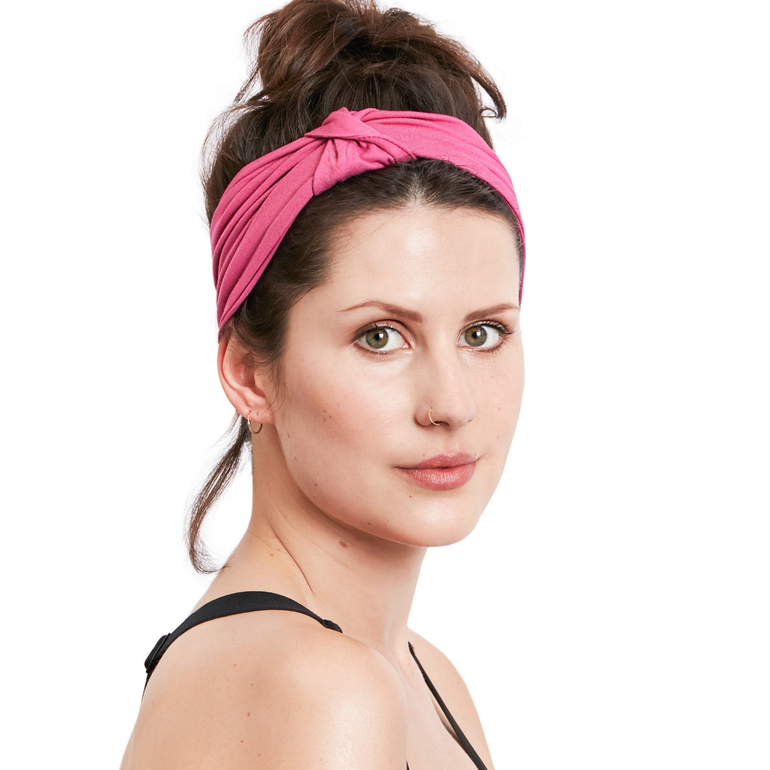 BLOM Original Multi Style Headband. for Women Yoga Fashion Workout Running  Athletic Travel. Wear Wide Turban Thick Knotted + More. 0335ded5394