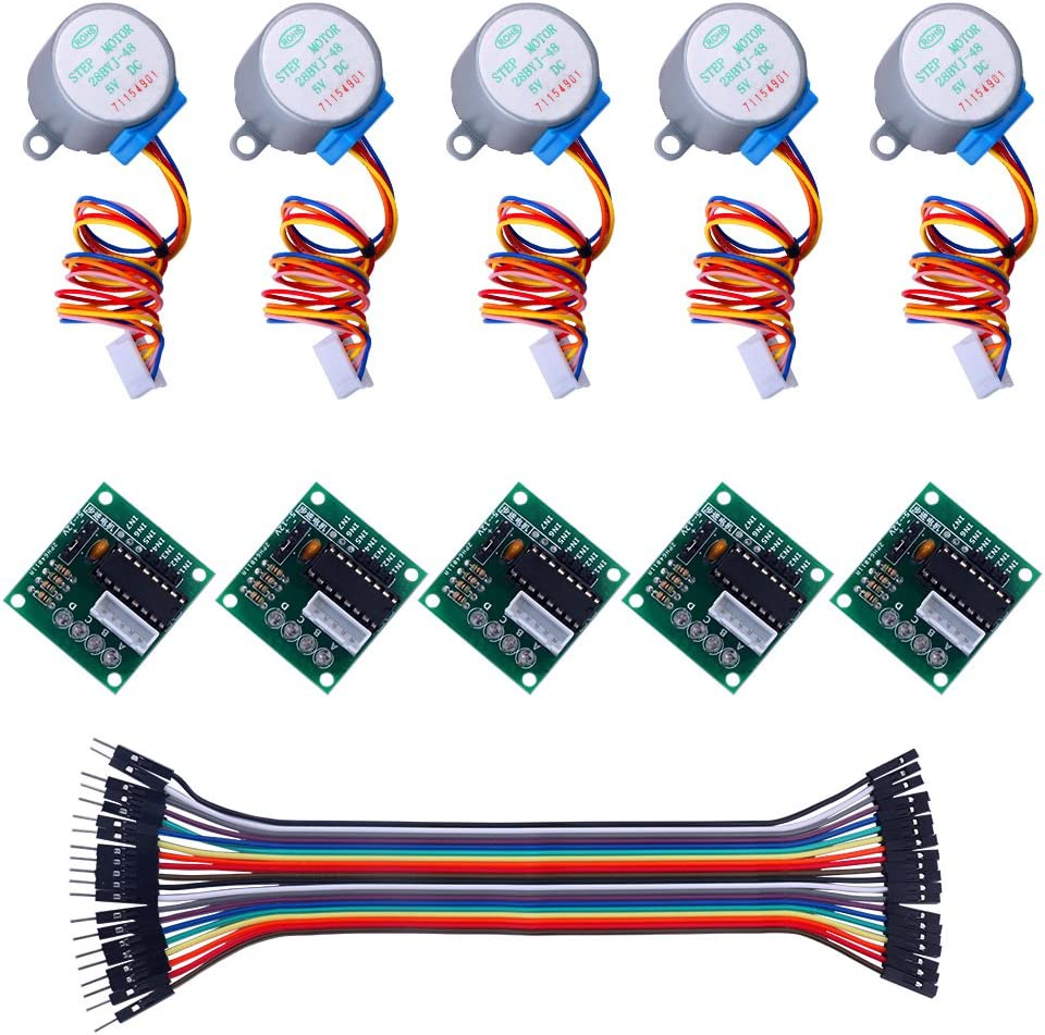 keywish 5 Sets 28BYJ-48 ULN2003 5 V Stepper Motor + ULN2003 ...