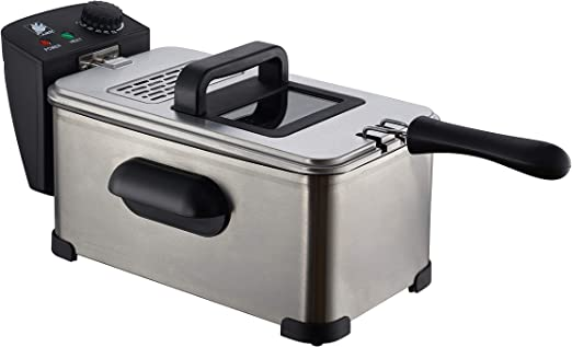 Deep Fat Fryer 3L,Stainless Steel Oil Fryer with Timer and Temperature