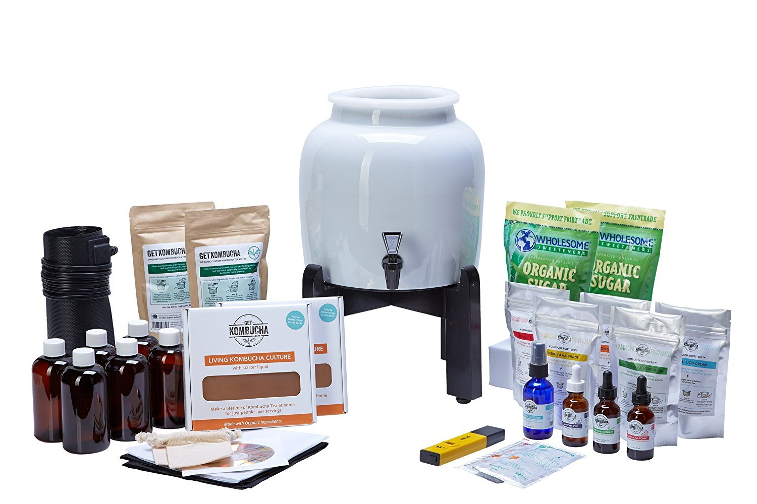 BREWMASTER SELECT Kombucha Continuous Brew Kit System - Drink Kombucha Tea On Tap (Making A Lifetime Of Home Brewed Kombucha Tea Easy For You) GetKombucha