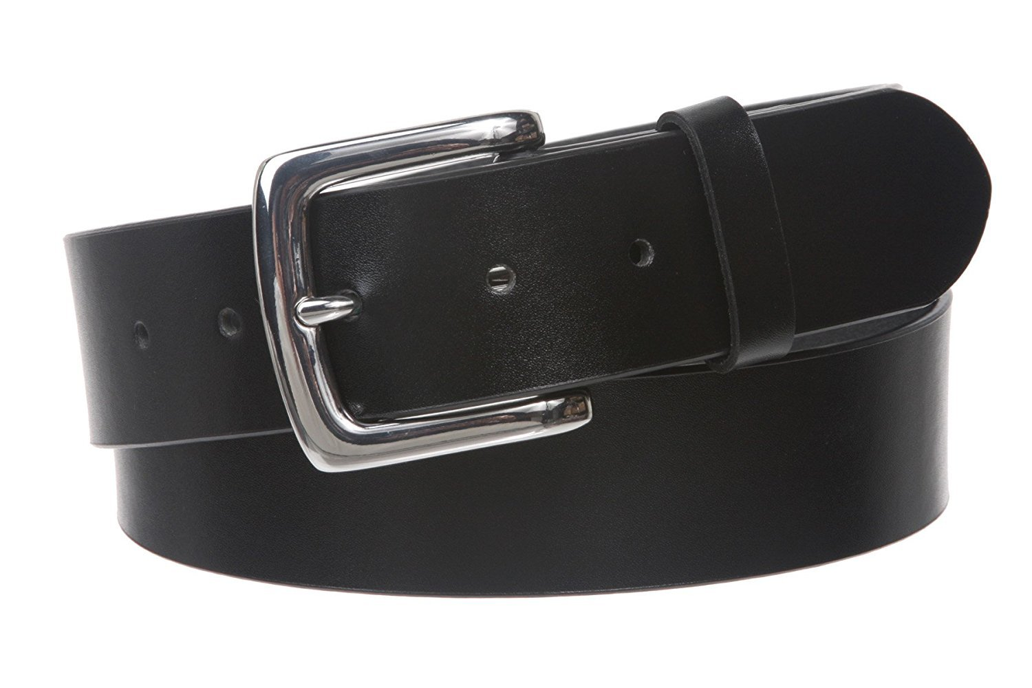 MONIQUE Women Square Nickel Free Snap On Plain Synthetic Leather 38mm Belt,Black M/L - 34''~36''