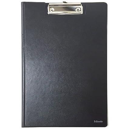 Esselte Carpeta con pinza y tapa, Capacidad para 200 hojas A4, Negro, 56047