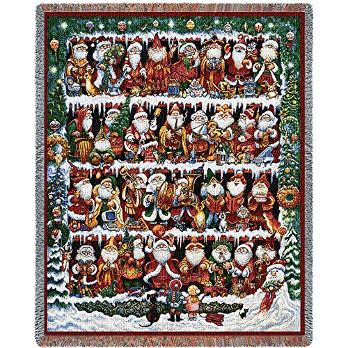 Pure Country Weavers - Will The Real Santa Clause Woven Tapestry Throw Blanket with Fringe Cotton USA Size 72 x 54