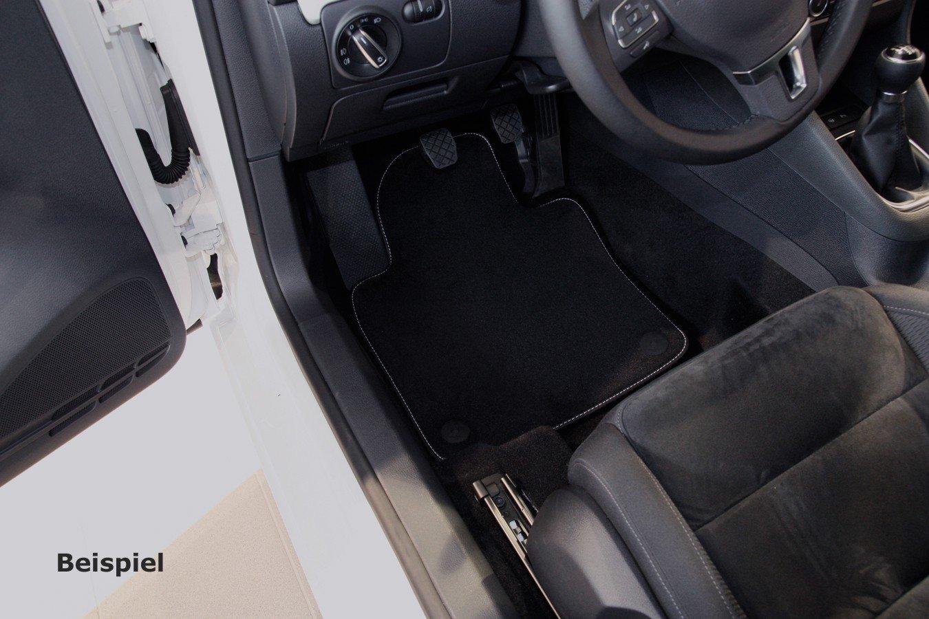 Tuning-Art V215-FBA Auto Fu/ßmatten Exclusive mit Bandeinfassung und Ziern/ähten