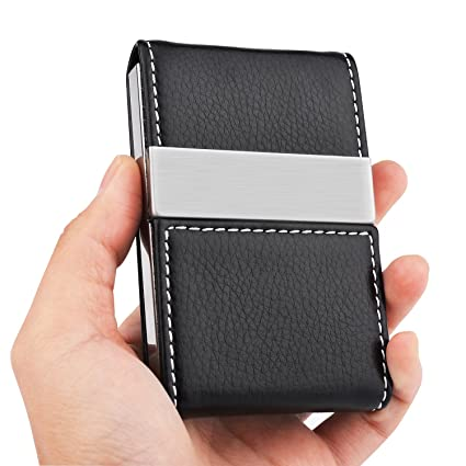 Amazon maxgear pu leather business card holder name card holder maxgear pu leather business card holder name card holder case credit card case with magnetic shut reheart