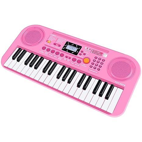 SANLINKEE Teclado de Piano para niños, 37 Teclas Teclado electrónico multifunción Órgano de Juguete Educativo