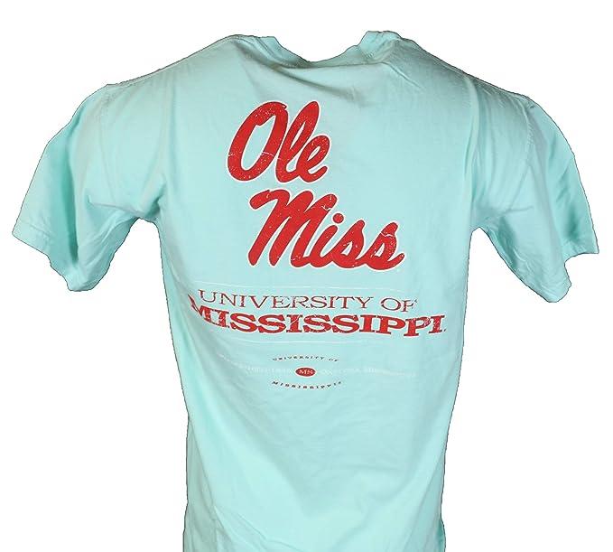 Amazon Com Ole Miss Vintage Logo Comfort Colors T Shirt Aqua