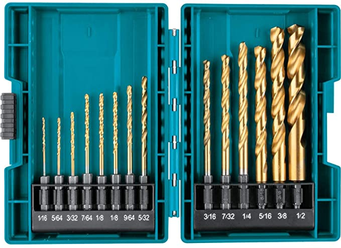 Makita B-65399 Impact Gold Titanium Drill Bit Set - TiN Coating