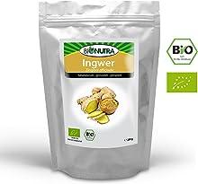 BioNutra Ingwer-Pulver Bio 250 g, fein gemahlener Ingwer aus kontrolliert biologischem Anbau