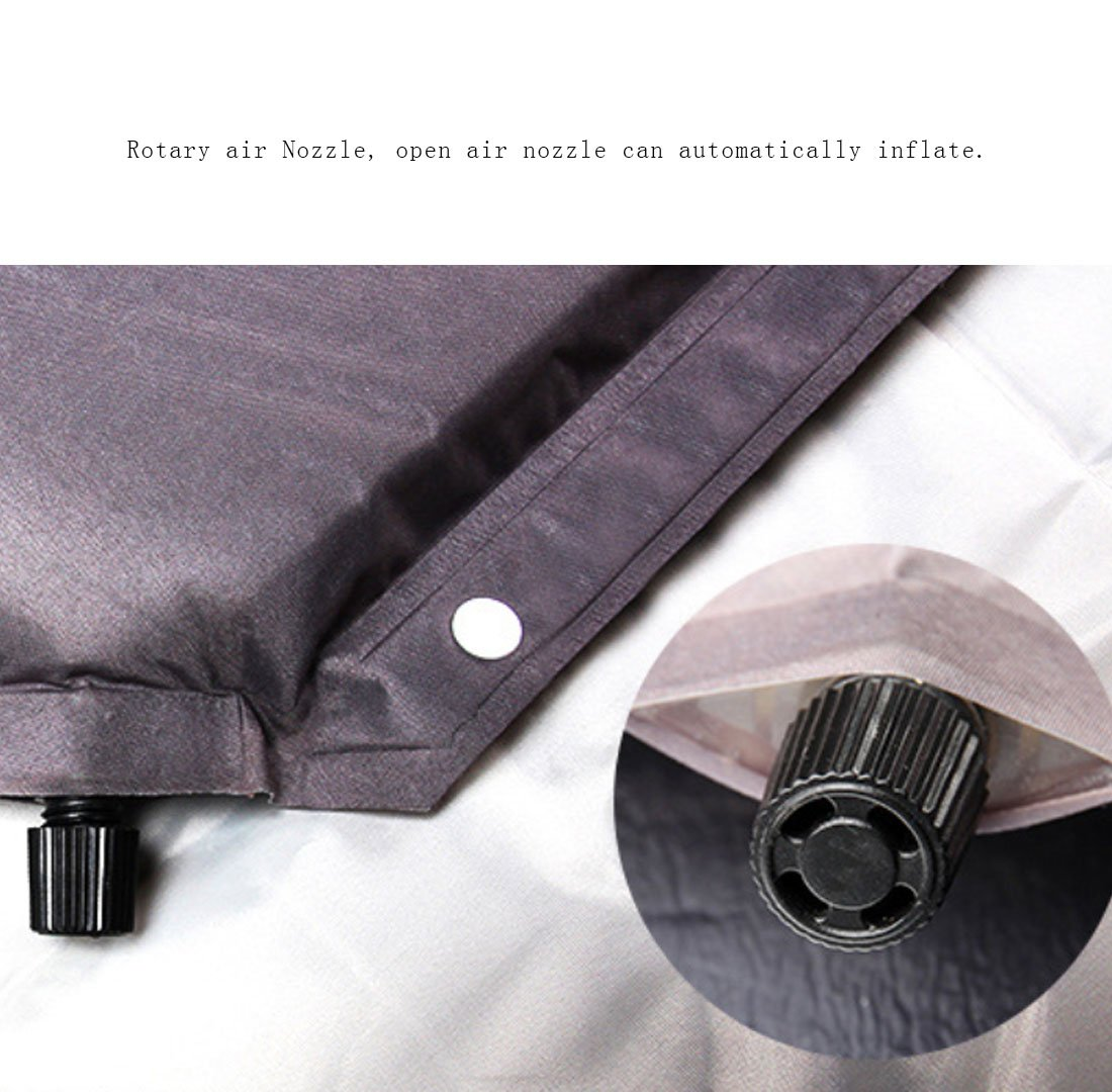 QQBL Amortiguador Inflable Automático De Nylon Engrosamiento Alargado Cojín De Humedad Al Aire Libre Plegable Lunch Break Mat,Red: Amazon.es: Deportes y ...