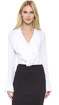 Yigal Azrouel Womens Ruffle Front Blouse At Amazon Women S Clothing