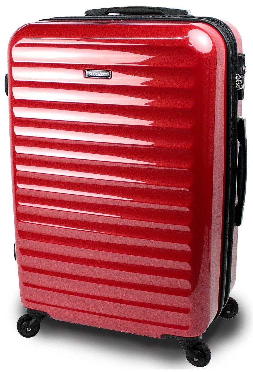 スーツケース 3サイズ( 大型  中型  小型 ) 超軽量 キャリーバッグ TSAロック 【 ヴィアーノ2020 ダブルファスナーモデル 】 鏡面ミラー加工 B072N89HXK 中型 Mサイズ 67cm 3~7泊用|レッド レッド 中型 Mサイズ 67cm 3~7泊用