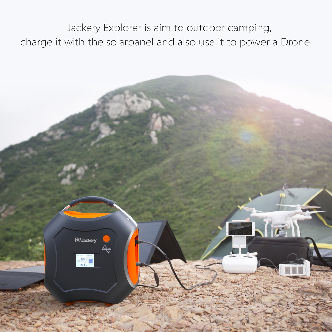 500Wh Portable Generator, Jackery Explorer / Power Pro Rechargeable Lithium Battery Pack Quiet Generator with 110V / 300W AC Outlet, 12V Car, USB Output Clean Off-grid Emergency Power Pack for Camping by Jackery (Image #8)