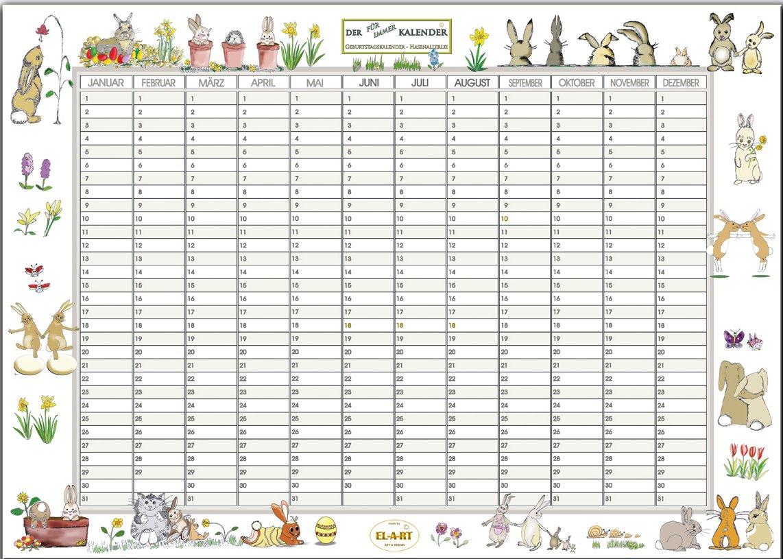 Kalender, Geburtstagskalender, der FÜR IMMER KALENDER, DIN A3, 250 ...