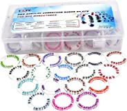 D&D Acrylic Condition Rings 72 PCS Status Effect Markers in 18 Conditions & Colors with 3x6 Storage Box Great DM Tool for Du