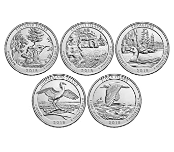 2018-P National Park Quarters 5 Coin Set