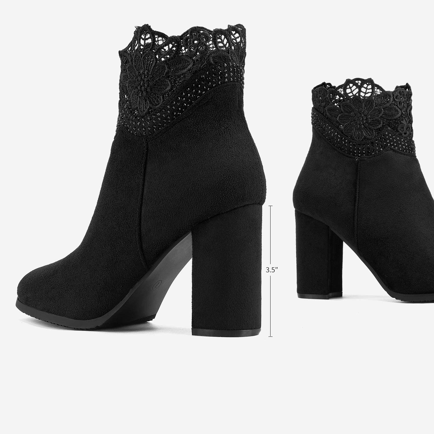 DREAM PAIRS Womens Pointed Toe Stiletto High Heel Ankle Booties
