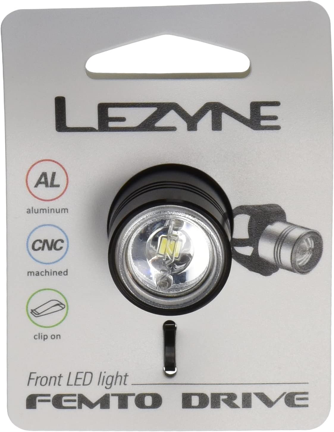 Matte Black Lezyne Femto USB Drive Pair LED Cycle Light Front Rear