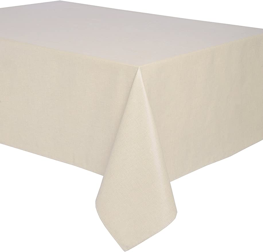 Mantel antimanchas rectangular Olimpia 50% algodón 50% poliéster, resinado y con Teflón de Dupont® - 150x200 - Liso beige: Amazon.es: Hogar