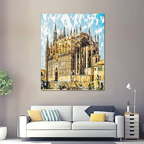 Amazon.com: SATVSHOP Paintings for Wall decor-16Lx16W-Gothic ...