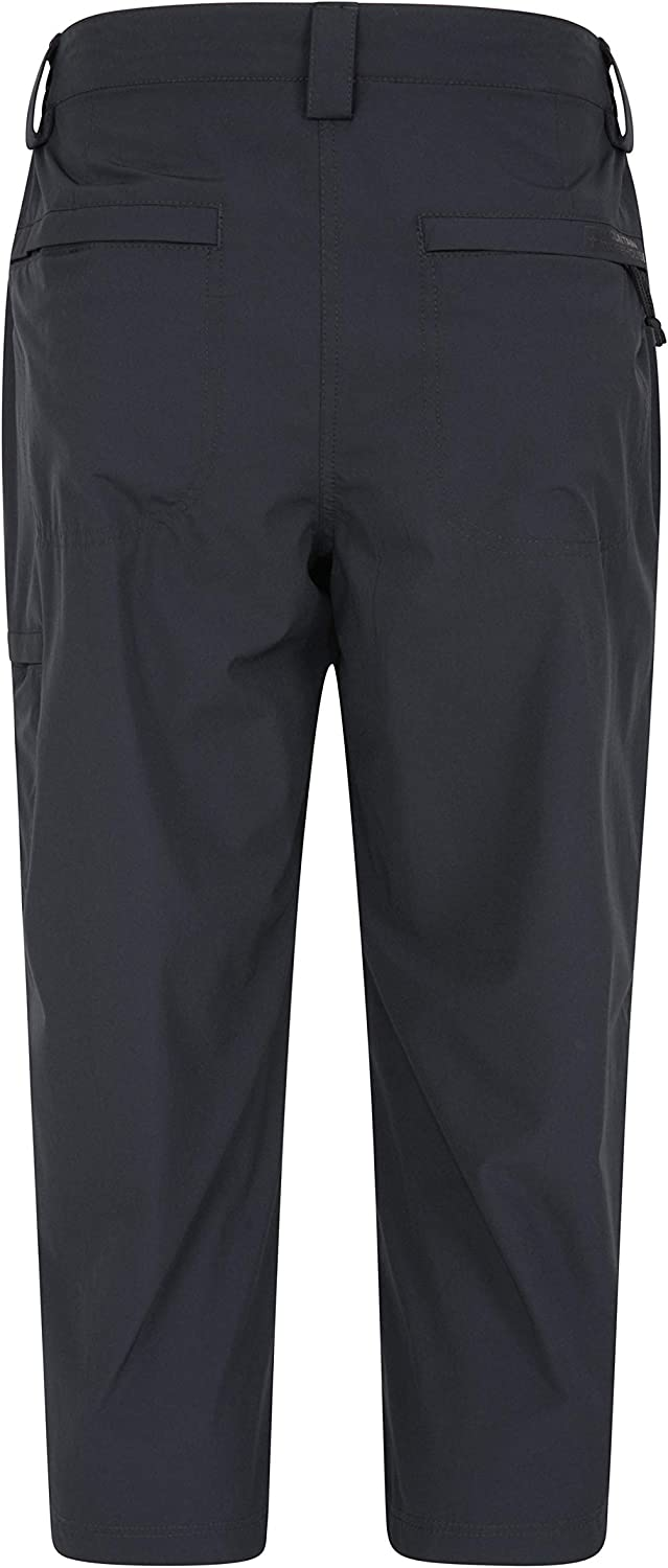 Walking Mountain Warehouse Trek Stretch Womens Capris Durable 4 Way Stretch Winter Trousers Easy Pack Casual Bottoms -for Hiking Lightweight Capri Pants Travelling