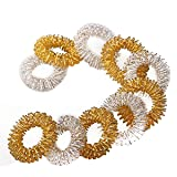 Winterworm 1 Pair Gold Metal Magnetic Hand Palm