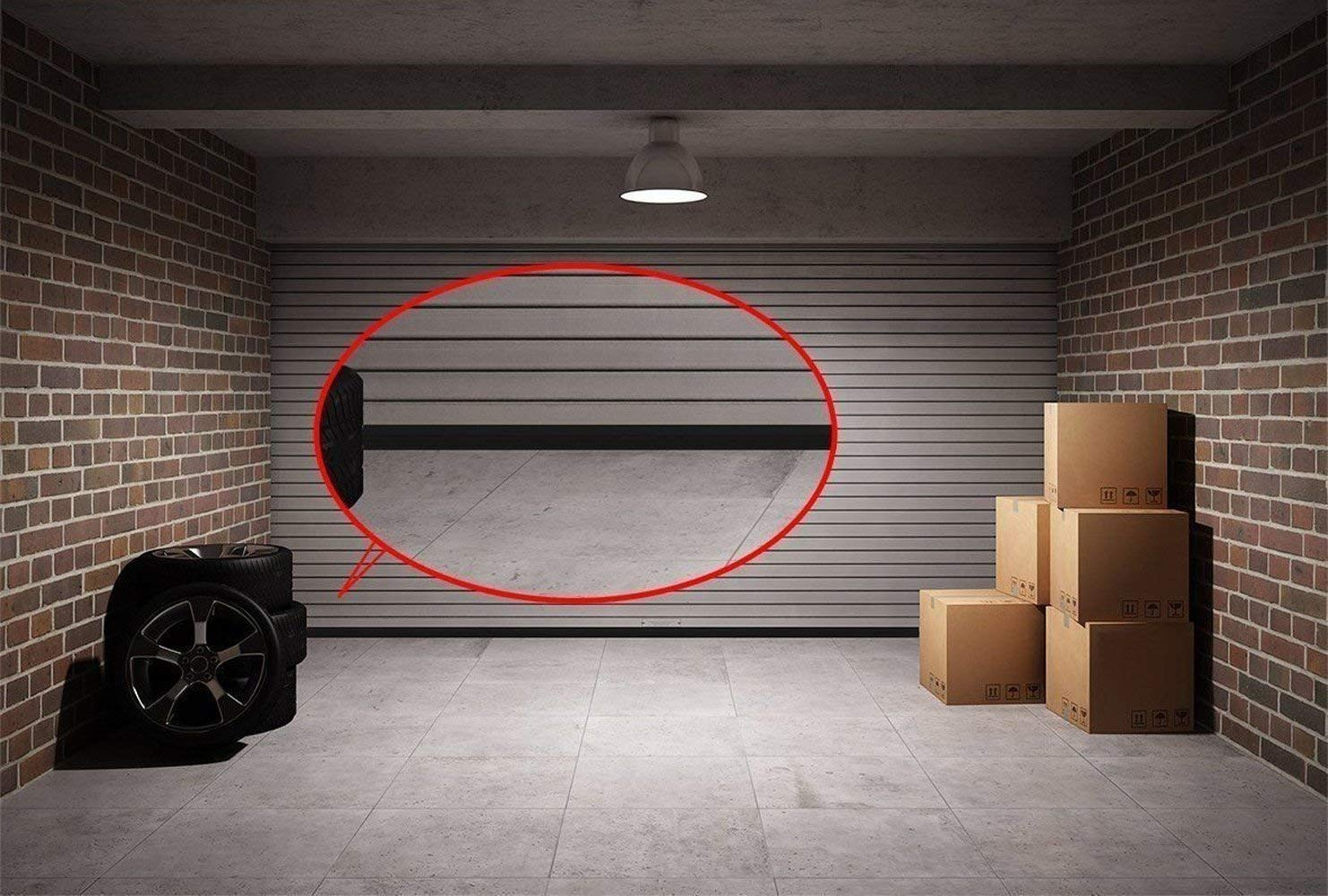 Garage Door Bottom Weather Stripping Kit Rubber Seal Strip Replacement, Weatherproofing Universal Sealing Professional Grade T Rubber,5/16'' T Ends, 3 3/4'' Width X 20 Feet Lenth (Black) by PaPillon (Image #5)