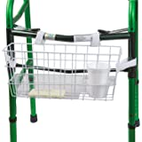 Universal Walker Basket with Plastic Insert Tray and Cup Holder, No Tools Needed