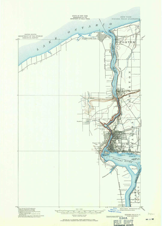 Amazon Com Yellowmaps Niagara Falls Ny Topo Map 1 62500